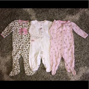 Wendy Bellissimo One Pieces - Carters & Wendy Bellissimo Sleepers 6-9 Months Lot